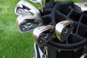 Golfschläger im Golfbag